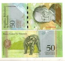 Venezuela 50 bolivares 2009   FDS  UNC   Pick 92d    lotto 4012