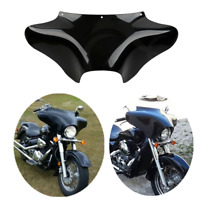 Vivid Black Front Outer Batwing Fairing Fit For Harley Softail Dyna Street Bob