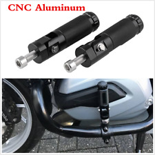 Black Universal Motorcycle Scooter Folding Foot Pegs Rear Footrest Pedals Step