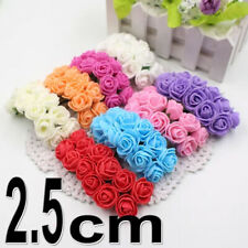 144 Foam Roses 2.5 cm with stem FOR VALENTINE'S DAY  Artificial Flowers Decor