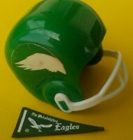 1967 NFL Philadelphia EAGLES Vintage mini gumball football helmet Tudor PENNANT