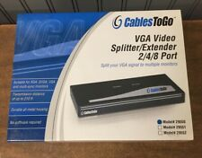 Cables To Go VGA VIDEO SPLITTER/EXTENDER 2 PORT MODEL 29550 - NEW