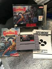 Super Castlevania IV SNES Super Nintendo NTSC complete with instructions and box