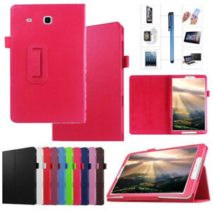 """Magnetic Leather Book Stand Case Cover for Samsung Galaxy Tab E 9.6"""" T560 Tablet"""