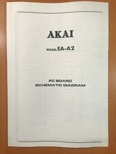 ORIGINAL SERVICE SCHEMATIC & DIAGRAM AKAI EA-A2 STEREO EQUALIZER D323