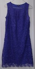 Women's Purple Papaya Lace Dress UK Size 12 With Floral Detail New no Tags