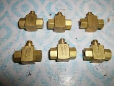 LOT OF 6 CLIPPARD INST LABORATORY MSV-1 SHUTTLE VALVE  (BIN95)