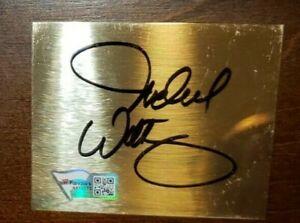 Signed Michael Waltrip NASCAR Autographed 2.5x3 Metal Cut with Fanatics Hologram
