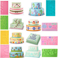Lace Silicone Fondant Icing Mold Chocolate Cake Decorating Sugarcraft Mat Mould