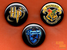 "Set of three 1"" Harry Potter Ravenclaw pins buttons Hogwarts crest"