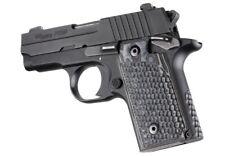 Hogue Sig P238 Grips Pirahna G-10 G-Mascus Black / Gray   (38137-BLKGRY)
