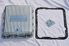 GM Chevy 700R4 4L60E Polished Aluminum Transmission Pan w/ Bolts & Gasket trans