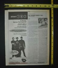 Blink 182 2001 In Store Ad Fye Nyc Take Off Your Pants and Jacket The Rock Show