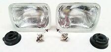 ISUZU HOLDEN RODEO 80 - 03 HEADLIGHTS HEAD LAMPS H4 SET OF 2 BULBS INCLUDED
