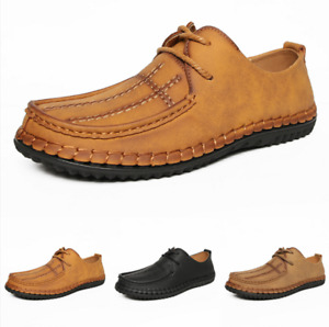 Mens Business Oxfords Flats Work Outdoor Walking Low Top Leisure Leather Shoes