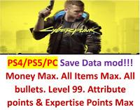 cyberpunk 2077 Savedata mod!Mod everything you need! PS4&PS5&PC!!!