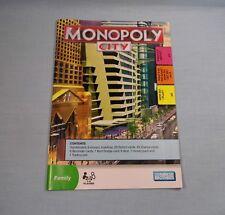 Monopoly City 3D Buildings 2009 Instructions  #MP59