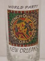 French Quarters New Orleans Tall Shot Glass World Party Collectible Souvenir Bar