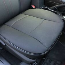Universal Breathable Car Front Leather Seat Cover Cushion 3D-Surrounded Black