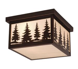 Vaxcel - Two Light Outdoor Flush Mount - Yellowstone - 12 Inch Outdoor Ceiling
