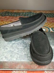 New Ugg Mens Dex Slip-ON Loafer Size-9  Black