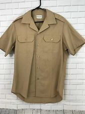 Vintage BENDONE Classic Shirt Military Tan - Size L - Short Sleeve