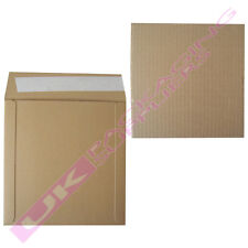 """10 BROWN 7"""" RECORD VINYL MAILERS + 10 STIFFENER PADS +  FREE FRAGILE LABELS"""