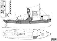 FRÉDERIC MISTRAL, Dampfschlepper Donauschlepper 1916 1:50. Modellbauplan