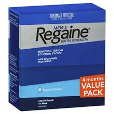 REGAINE MEN'S EXTRA STRENGTH 4 MONTHS SUPPLY HAIR LOSS 5% MINOXIDIL TOPICAL