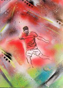 Marcus Rashford Original Acrylic Painting Graffiti style Street art Manchester U