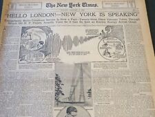 1927 JAN NEW YORK TIMES RADIO SECTION - HELLO LONDON NY IS SPEAKING - NT 6288