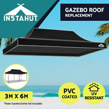 Instahut Gazebo 3x6 Pop Up Marquee Replacement Roof Outdoor Wedding Tent Black