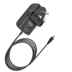 """Long Cable UK Plug Power Mains Charger Power for LINX 810B 8"""" 1010B 10.1"""" Tablet"""