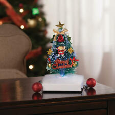 "Mini Musical Fiber Optic ""Merry Christmas"" Holiday Tabletop Tree"