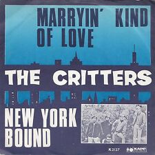 THE CRITTERS - MARRYIN KIND OF LOVE - RARE 1966 DANISH KAPP PICTURE SLEEVE PSYCH