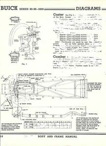1939 Buick Series 80 90 NOS Frame Dimensions Align Spec