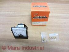 Simpson 02580 Meter AC Amperes Range 0-5 Amps