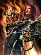 Calandra Art - Devil Girl 16x20 Print