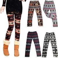 Fashion Women Xmas  Reindeer Knitted Leggings Skinny Pants Trousers Hot
