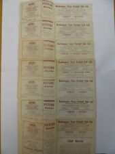 More details for northampton town | 1961/1962 | 7 homes | bpafc, hcfc, ncfc, pufc, rfc, wfc, mfc