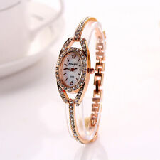 Luxury Womens Watch Girls Stainless Steel Crystal Bracelet Quartz Wrist Watch UK