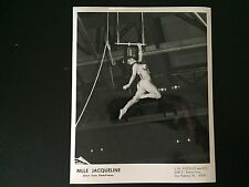 RARE VINTAGE CIRCUS TRAPEZE ARTIST: Mlle Jacqueline Direct From Paris Photo