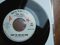 "PEGGY MARCH - TAKIN' THE LONG WAY HOME - RARE U.S. PROMO 7"" RCA 47- 8357 EX+"
