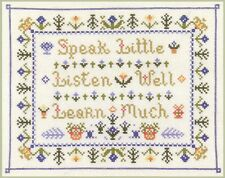 Traditional verse Sampler - cross stitch kit on 14 aida with COLOUR chart