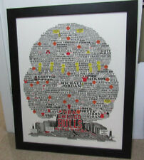 Chicago Bulls Family History Tree by Bruce Burton Print Poster 34x25