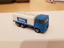 MAJORETTE Saviem ARAL truck / Made in France / Blue white / scale 1/100