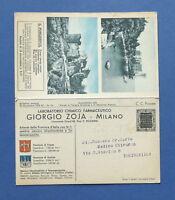 Cartolina doppia - Pubblicità  Farmaceutica - Giorgio Zoja Milano - 1933.