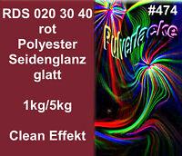 PULVERLACK Beschichtungspulver Pulverbeschichtung Ral 020 30 40 rot Clean Effekt