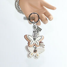 NWT Coach Studded Butterfly Mix Bag Charm Key Fob Key Ring White F58997 New