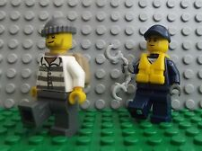 2 x Lego Brand New Mini Figures Water Policeman & Robber Catch that Thief